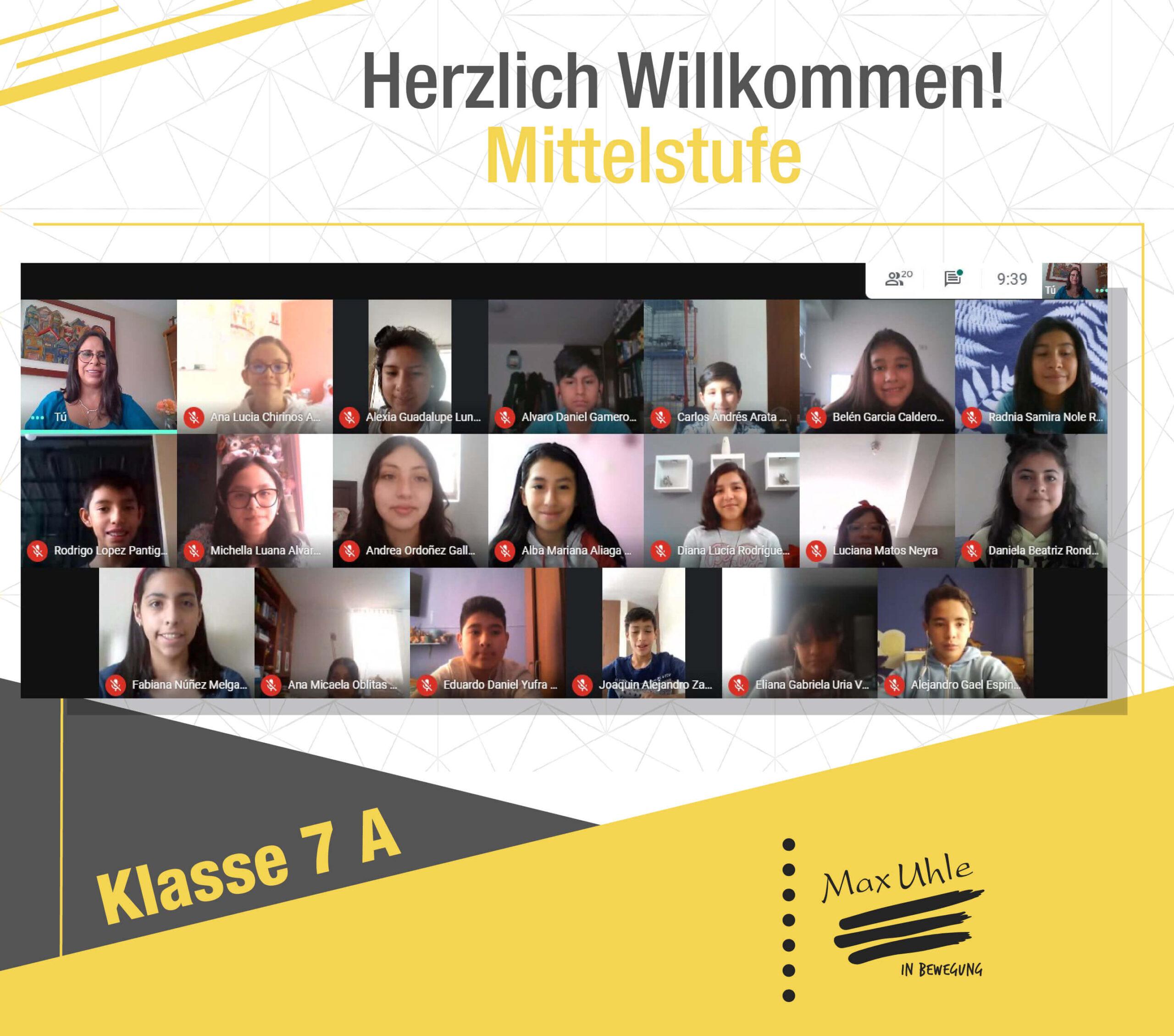 regreso a clases 2021 Mittelstufe 7A