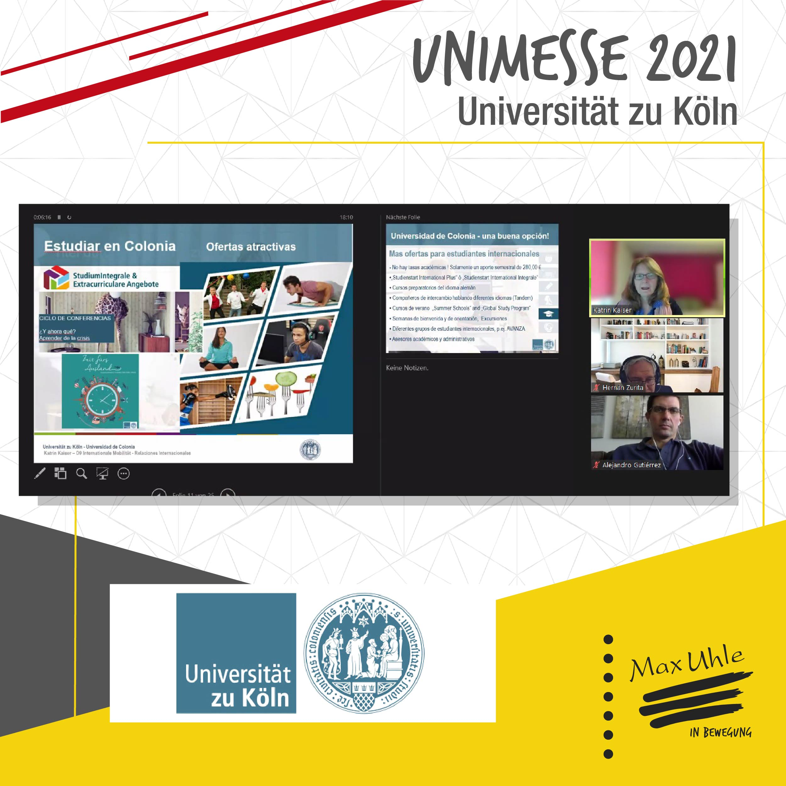 Koln - Unimesse 2021 Colegio Max Uhle