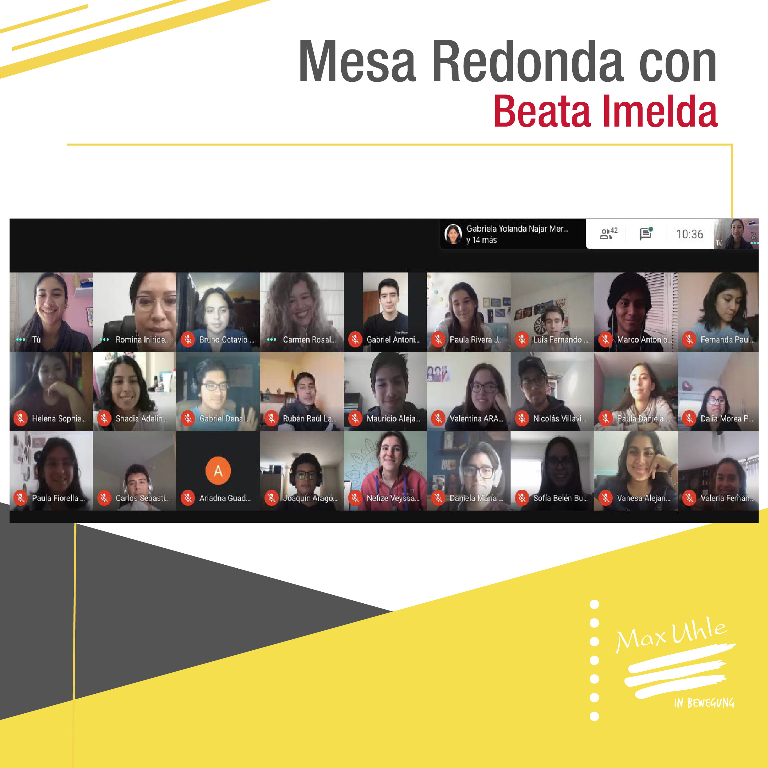 mesa redonda con Beata Imelda