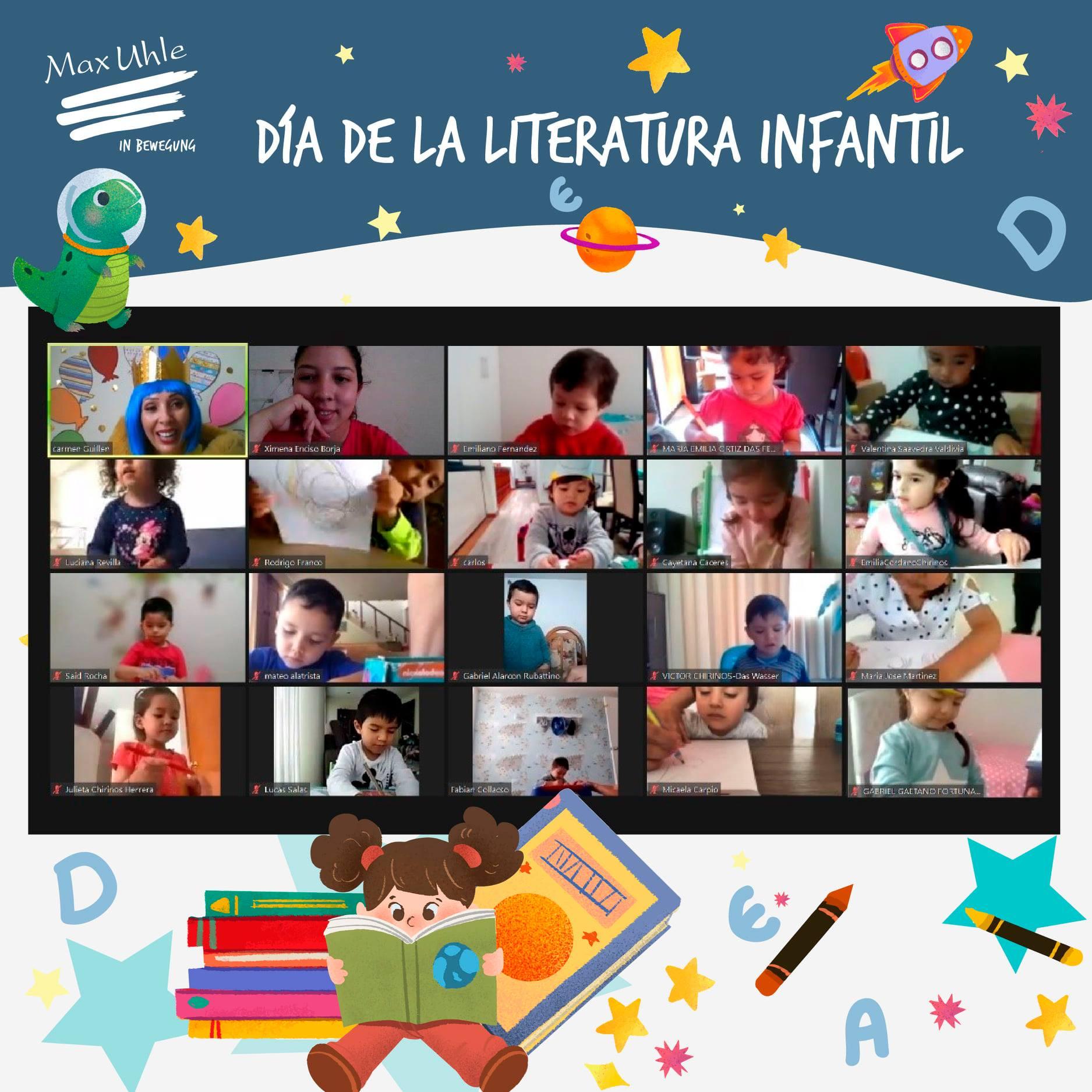 dia de la literatura infantil kindergarten colegio max uhle
