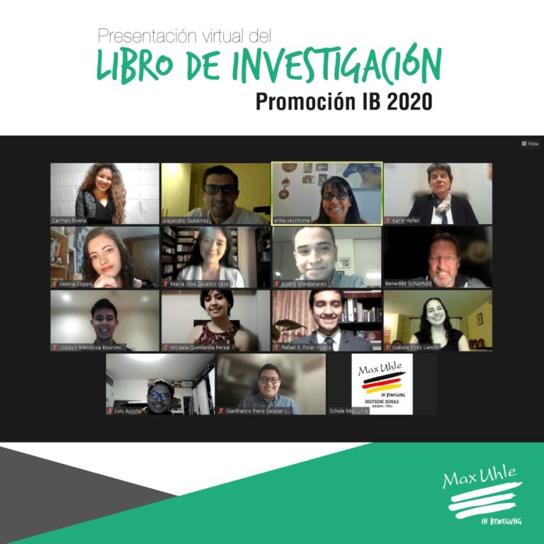 presentacion libro de investigacion 2020 colegio peruano aleman max uhle arequipa