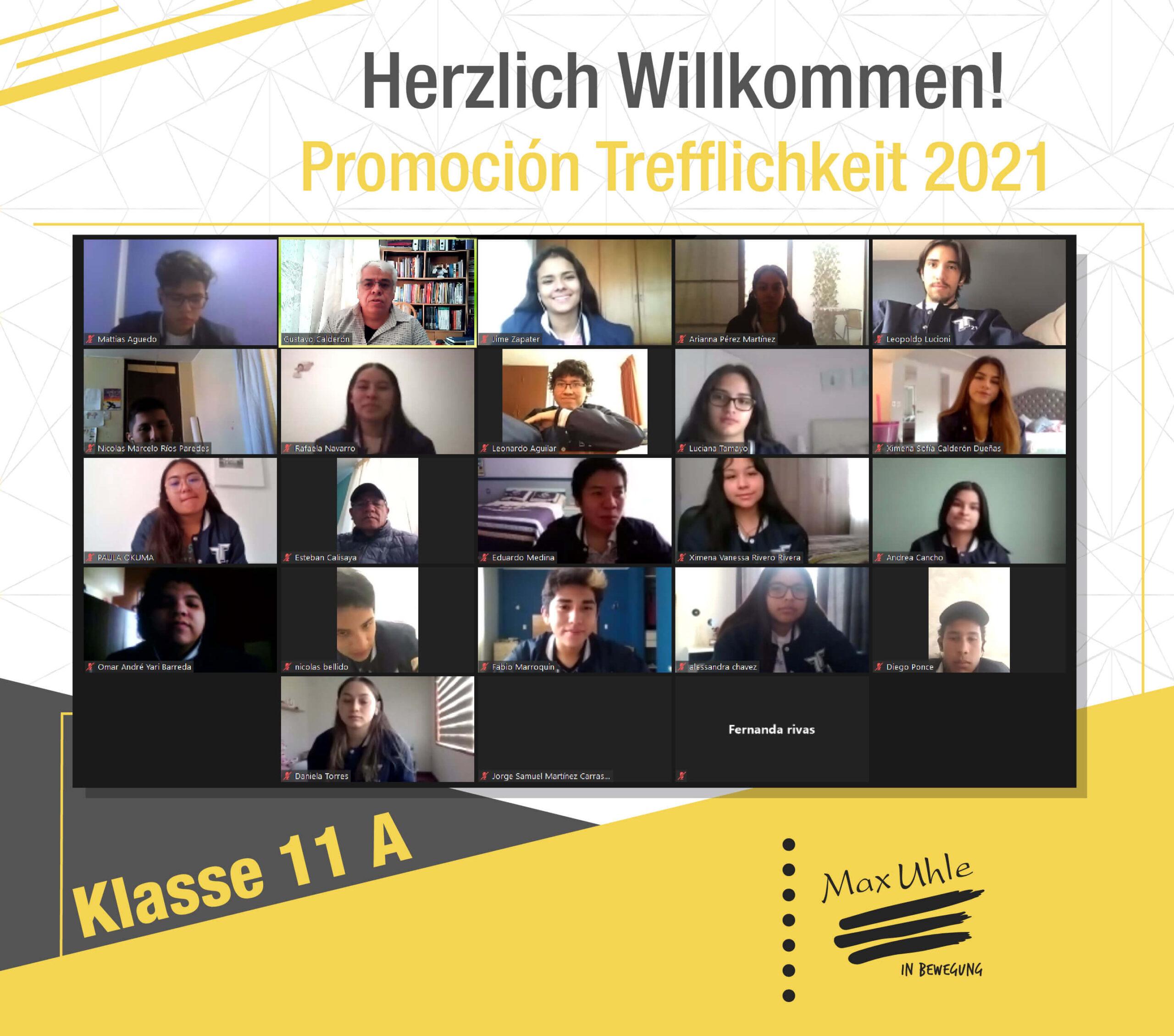 regreso a clases promocion trefflichkeit 2021 clase 11A