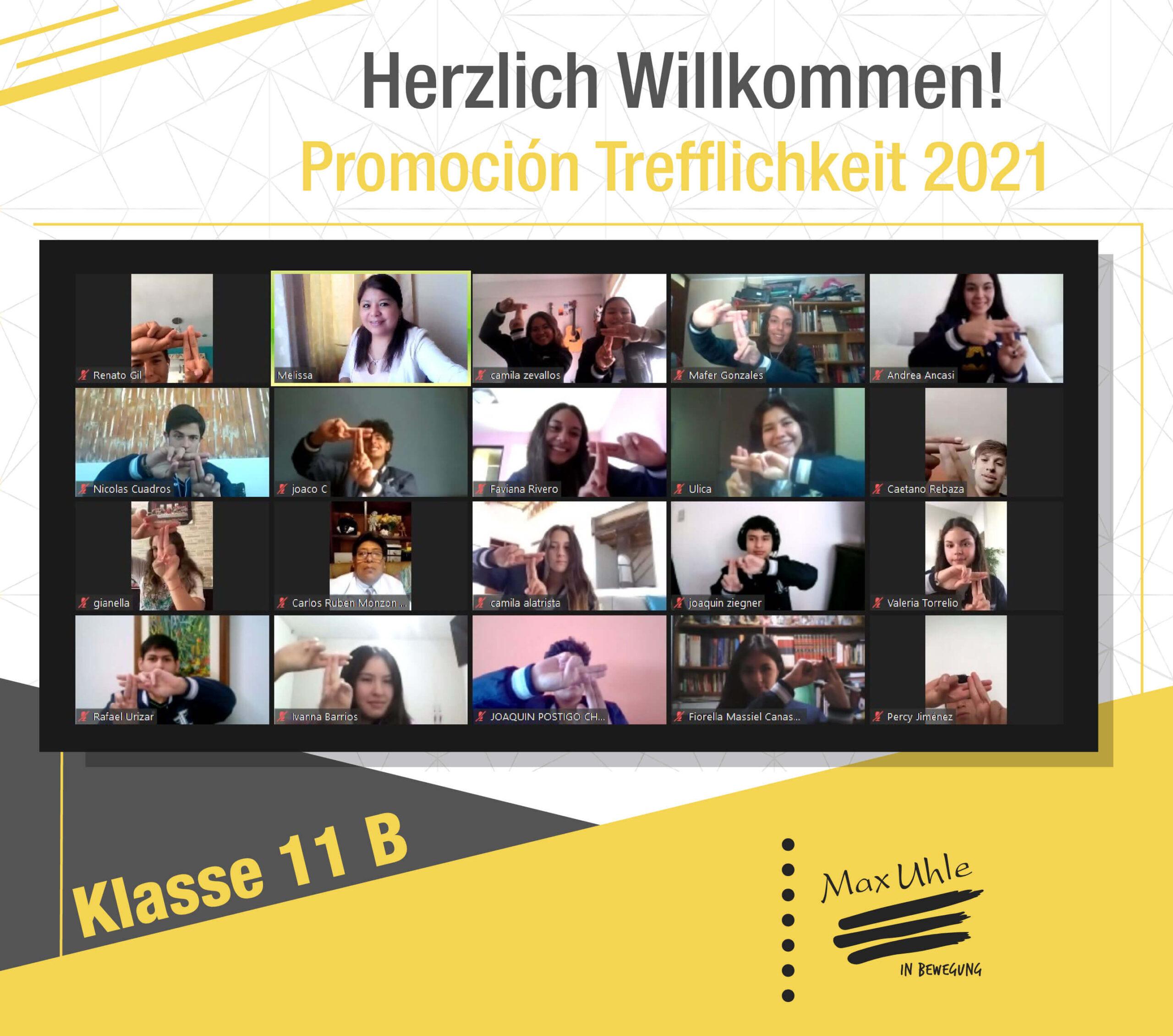 regreso a clases promocion trefflichkeit 2021 clase 11B