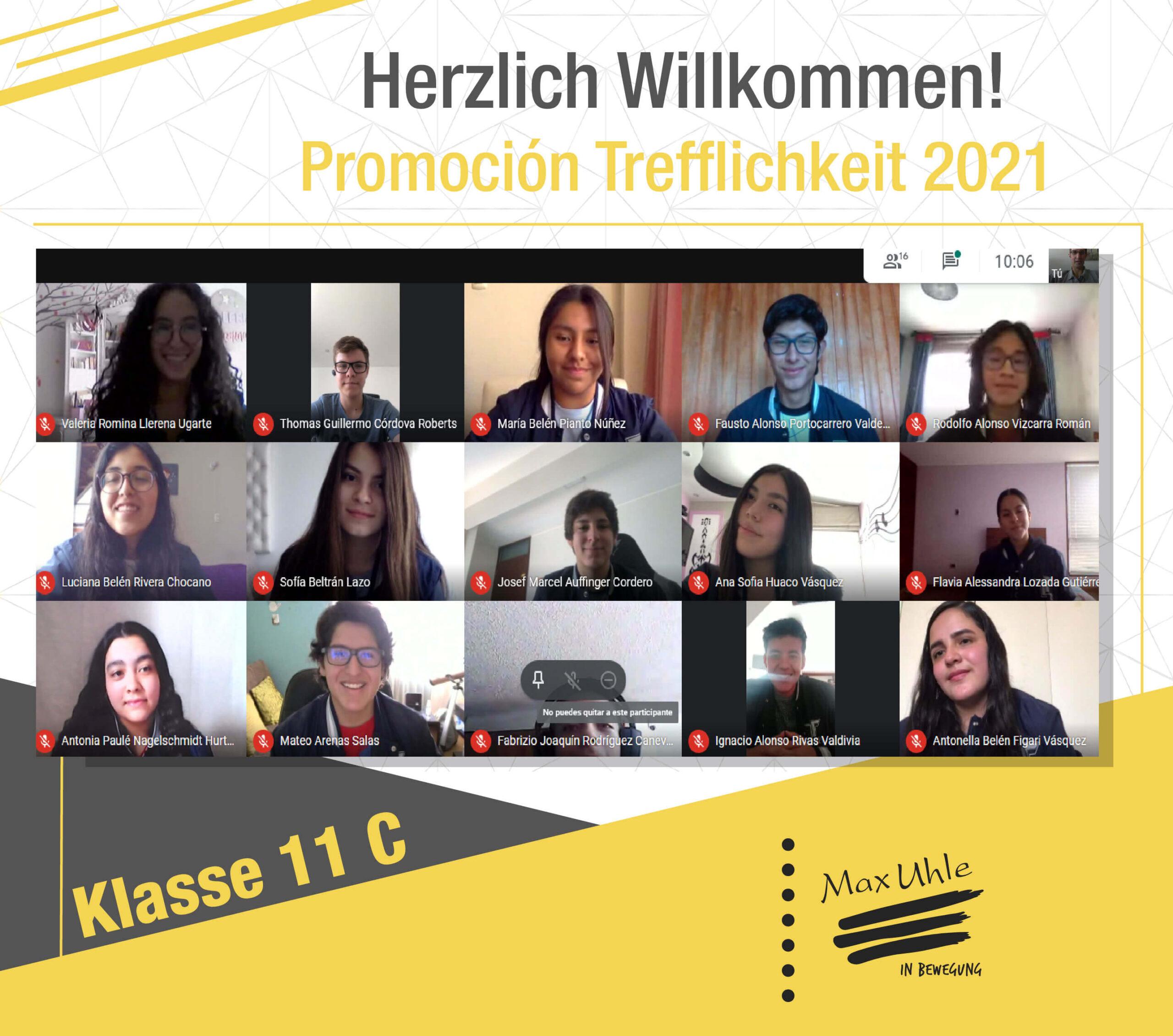 regreso a clases promocion trefflichkeit 2021 clase 11C