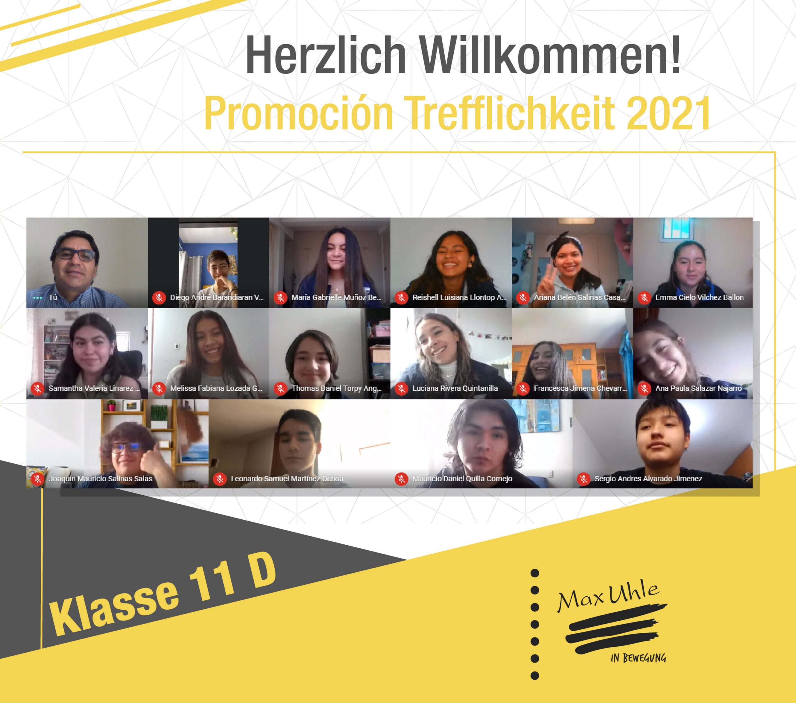regreso a clases promocion trefflichkeit 2021 clase 11D
